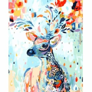 Numbers Kit A Colorful Deer Painting - Best Paint by Number Kits for Beginners: Reconnect with Nature