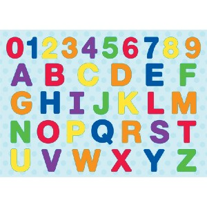 MasterPieces ABC & 123 - Best Wooden Puzzles for Toddlers: Shaped Alphabet Capitals and Numbers