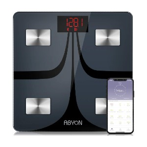 ABYON Bluetooth Smart Bathroom Scales  - Best Weight Scale with BMI: Five seconds set-up