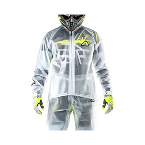 ACERBIS TRANSPARENT 3.0 CLEAR RAIN JACKET - Best Raincoat for Motorcycle Riders: Lager Fit and Zip Closure