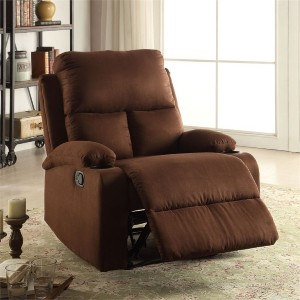 ACME Rosia - Best Recliners for the Money: Sweeping Arched Overstuffed Armrests