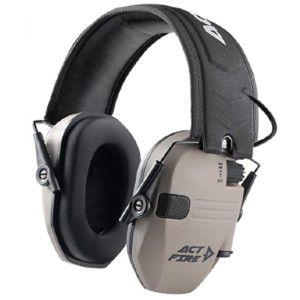 ACT FIRE Shooting Earmuffs - Best Shooting Hearing Protection: Sound Amplification Effect