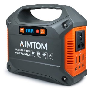 AIMTOM 42000mAh 155Wh Power Station - Best Portable Power Station for CPAP: Best budget-friendly pick