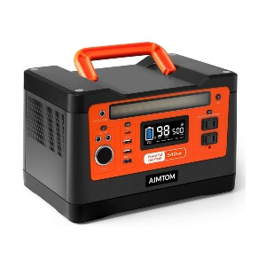 AIMTOM 540Wh Portable Power Station - Best Generators for RVs: Advanced BMS Safeguards Your Battery and Devices