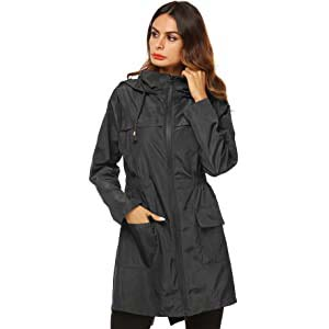 AKEWEI Women Lightweight Raincoat - Best Raincoats for Summer: Perfect combination of stylish and function