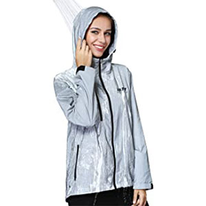 AKFLY Reflective Jacket with Hoodie - Best Rain Jackets for Running: 360 Reflective Coverage and Visibility