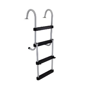 RecPro AL-B4 - Best Boat Ladders: Top-Of-The-Line Slim Profile Ladder
