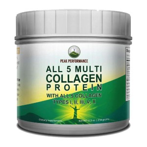 Peak Performance ALL 5 MULTI Collagen Protein - Best Collagen Powder for Cellulite: Great Looking Skin and Hair