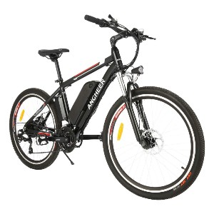 ANCHEER 250W/500W Ebike 26'' Electric Bicycle - Best Electric Bike with Throttle: 85% assembled
