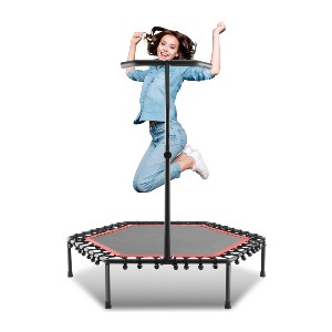 ANCHEER Mini Trampoline Rebounder - Best Trampoline for Teenagers: Stable bounce performance
