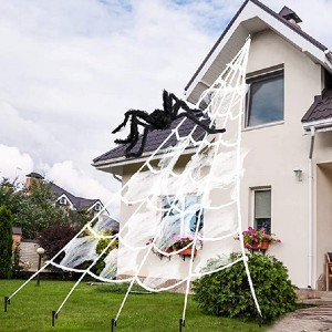 AODINI Spider Web Halloween Decorations - Best Halloween Decorations Outdoor: The most terrifying