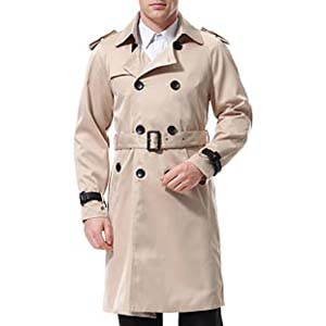 AOWOFS Men's Double Breasted Trenchcoat - Best Raincoats with a Suit: Fantastic look and comfortable wearing