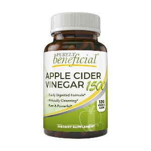 Purely Beneficial Apple Cider Vinegar 1500 - Best Apple Cider Vinegar Pills for Weight Loss: Easy to Swallow Capsules, Without the Taste