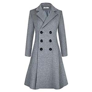 APTRO Women's Wool Coat - Best Raincoats with a Suit: One word: perfect