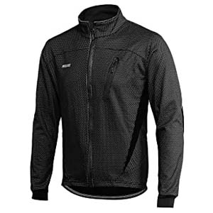 ARSUXEO Winter Warm UP Thermal Fleece Cycling Jacket - Best Raincoats for Cycling: Totally breathable