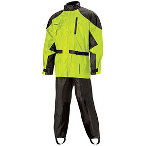 Nelson-Rigg AS-3000 Aston Hi Visibility 2-piece Rain Suit - Best Raincoat for Motorcycle Riders: Two Piece Breathable and Waterproof Raincoat