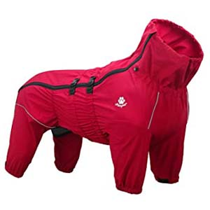 ASMPET Dogs Raincoat Lightweight Four Legs Jacket - Best Raincoats for Corgis: Extraordinarily works well