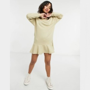 ASOS Petite Oversized Sweat Dress - Best Loungewear for Petites: Adorable ribbed cuffs