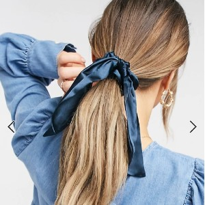 ASOS DESIGN Scrunchies and Bow - Best Silk Scrunchies: Elasticated Insert