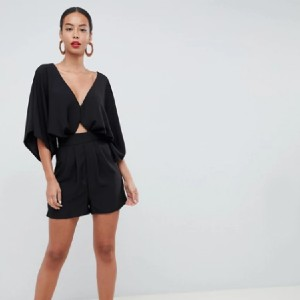 ASOS Tall Romper with Kimono Sleeve and Cutout - Best Romper for Long Torso: Nice coverage