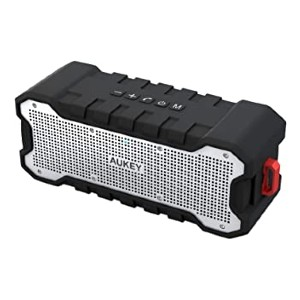 AUKEY Bluetooth Speaker Dual-Driver - Best Waterproof Speaker: Durable and lasts up to 30 hours