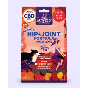 AUSTIN AND KAT Bakko's Hip and Joint Chew - Best CBD Treats for Dogs with Arthritis: Organic Ingredients