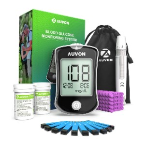 AUVON DS-W Blood Sugar Kit - Best Glucometer for Home Use: For tech-junkie