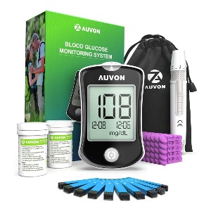 AUVON DS-W Blood Sugar Kit (No Coding Required) - Best Blood Glucose Meters: Best high-tech pick