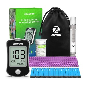 AUVON DS-W Blood Sugar Kit - Best Glucometer for Gestational Diabetes: Compact carrying bag