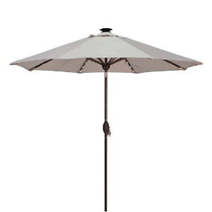Abba Patio 9' Solar Powered 24 LED Light Patio Umbrella - Best Patio Umbrellas with Lights: Best UV protection