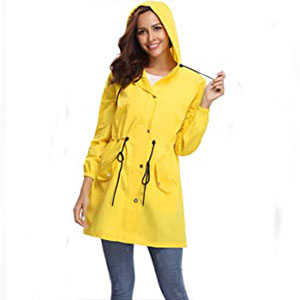 Abollria Windbreaker Raincoat - Best Raincoats for Work: Raincoat for any weather
