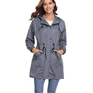 Abollria Rain Jacket Women Waterproof with Hood - Best Raincoats with a Suit: Incredibly waterproof and trendy