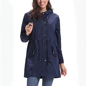 Abollria Store Rain Jacket Women Waterproof with Hood - Best Raincoats for Work: Dry quickly raincoat jacket