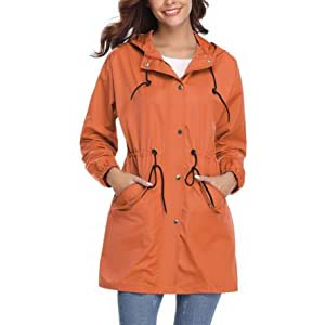 Abollria Womens Outdoor Rain Jacket - Best Raincoats for Cycling: Stylish and lightweight
