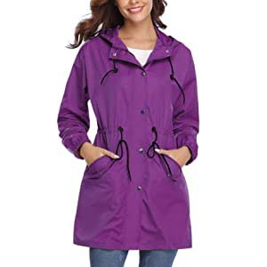Abollria Womens Outdoor Raincoat  - Best Raincoats for Summer: Stylish and lightweight