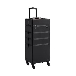 Symple Stuff Abrams Rolling  - Best Makeup Train Case: Four-Layer Removable Cosmetic Case