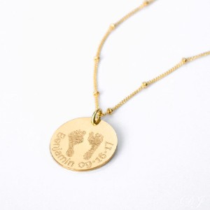 Danique Trends Actual Footprint Necklace with Name - Best Jewelry for New Mom: Best overall