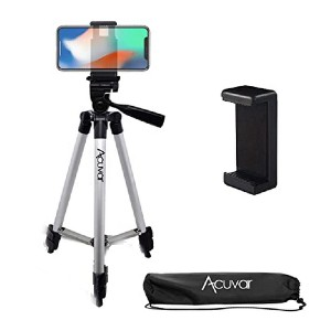 Acuvar Aluminum Camera Tripod - Best Tripods for Smartphone: Easy attachment