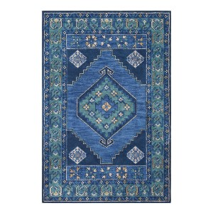 Adele AD01 Navy Area Rug - Best Rug for Entryway: Best for color-lovers