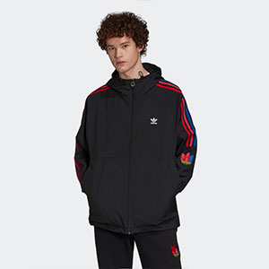 ADIDAS ADICOLOR 3D TREFOIL WINDBREAKER - Best Jacket for Wind: Windbreaker jacket with full zip with high collar