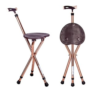 M-GYG Folding Cane With Seat - Best Cane for Heavy Person: Smooth, comfortable grip