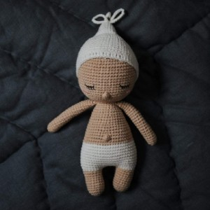 Happy Little People Adopt-a-Doll: Sleeping Baby Handmade Doll - Best Educational Toys for 1-2 Year Olds: Comes with adoption certificate