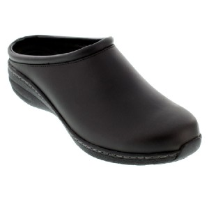 Aetrex Robin Black Oiled Leather Slip-Resistant - Best Shoes for Medical Students: Good Support Shoes