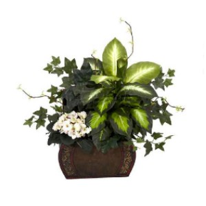 Nearly Natural African Violet - Best Artificial Plants for Indoors: Mixing Different Shades of Green