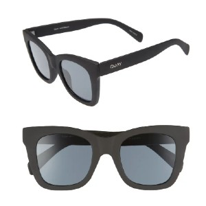 QUAY AUSTRALIA After Hours 50mm Square Sunglasses - Best Sunglasses for Round Face: 100% UV Protection