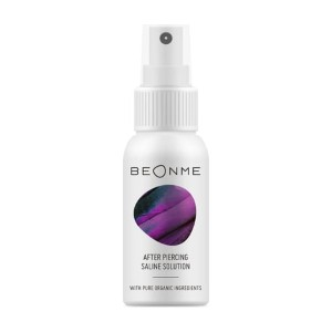 BeOnMe After Piercing Saline Solution - Best Cleaning Solution for Piercings: Ideal for Daily Cleansing and Care