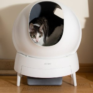 Aimicat Automatic Cat Litter Box - Best Self Cleaning Litter Box for Large Cats: Fresh Filteration System