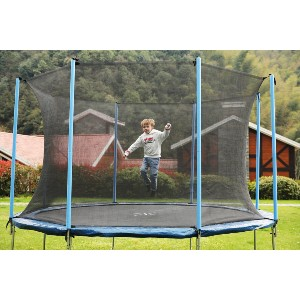 Super Jumper AirBound 10' Round Trampoline - Best Trampoline for Kids and Adults: UV, weather, and rust resistant