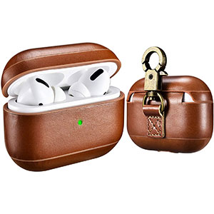ICARER AirPods Pro Leather Case with Strap - Best Airpods Pro Case: All-Round Protection Airpods