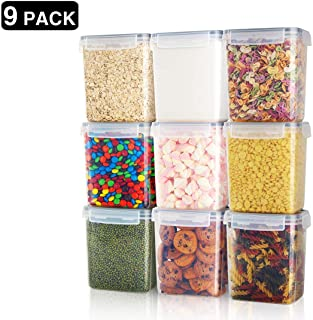 Tiawudi Airtight Food Storage Containers 9 Pieces - Best Food Storage Container: Tidier and more organized